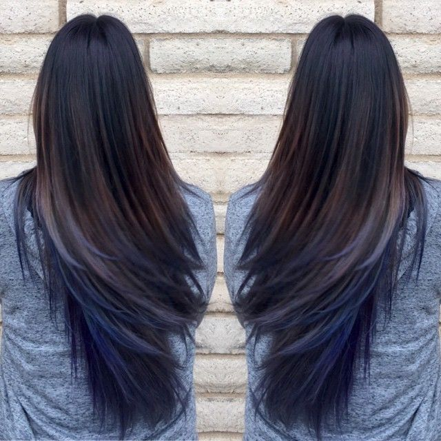 Who said that Brunettes can\'t have colorful hair? Oil slick ...