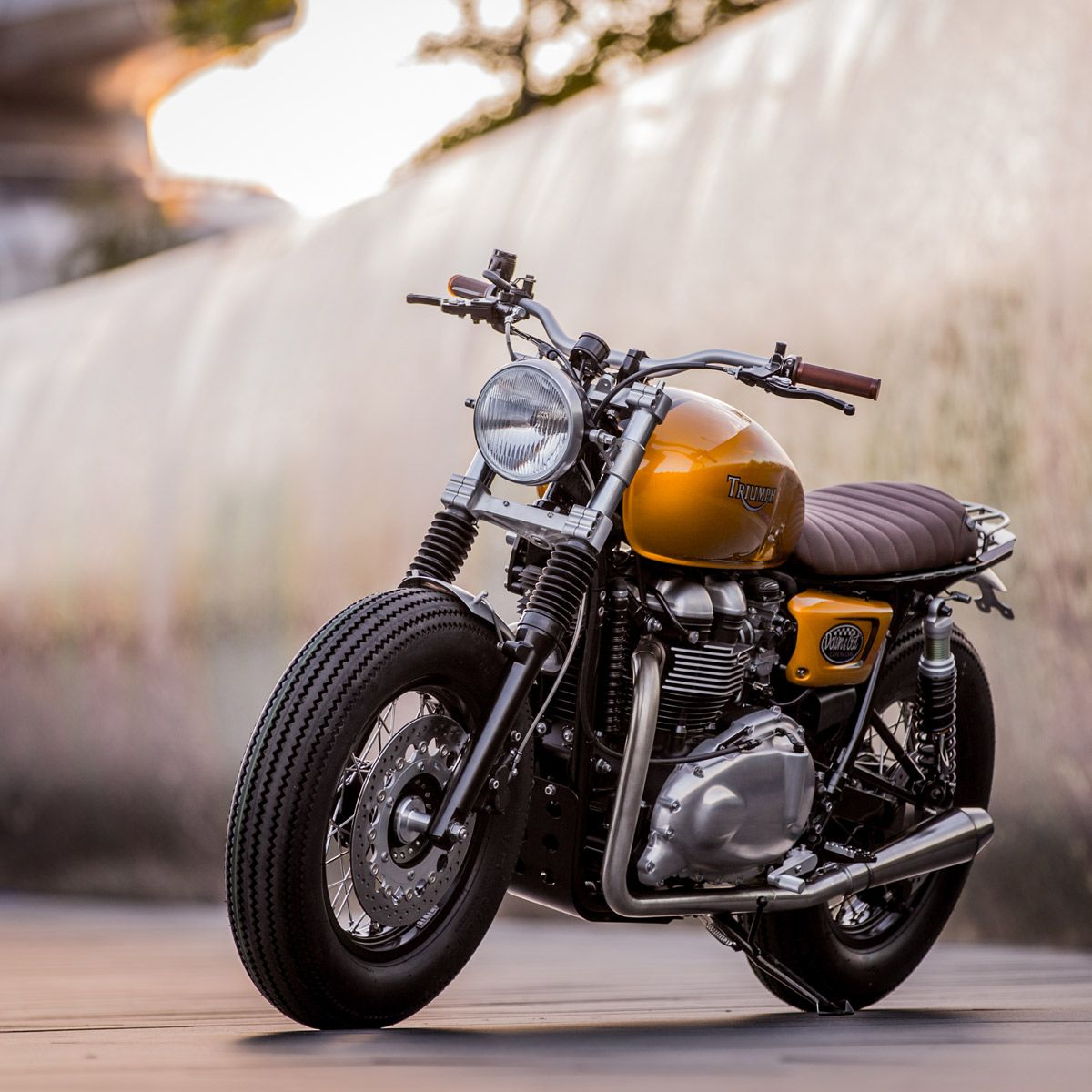 down out cafe racers triumph thruxton motorr der autos und motorr der und oldtimer. Black Bedroom Furniture Sets. Home Design Ideas