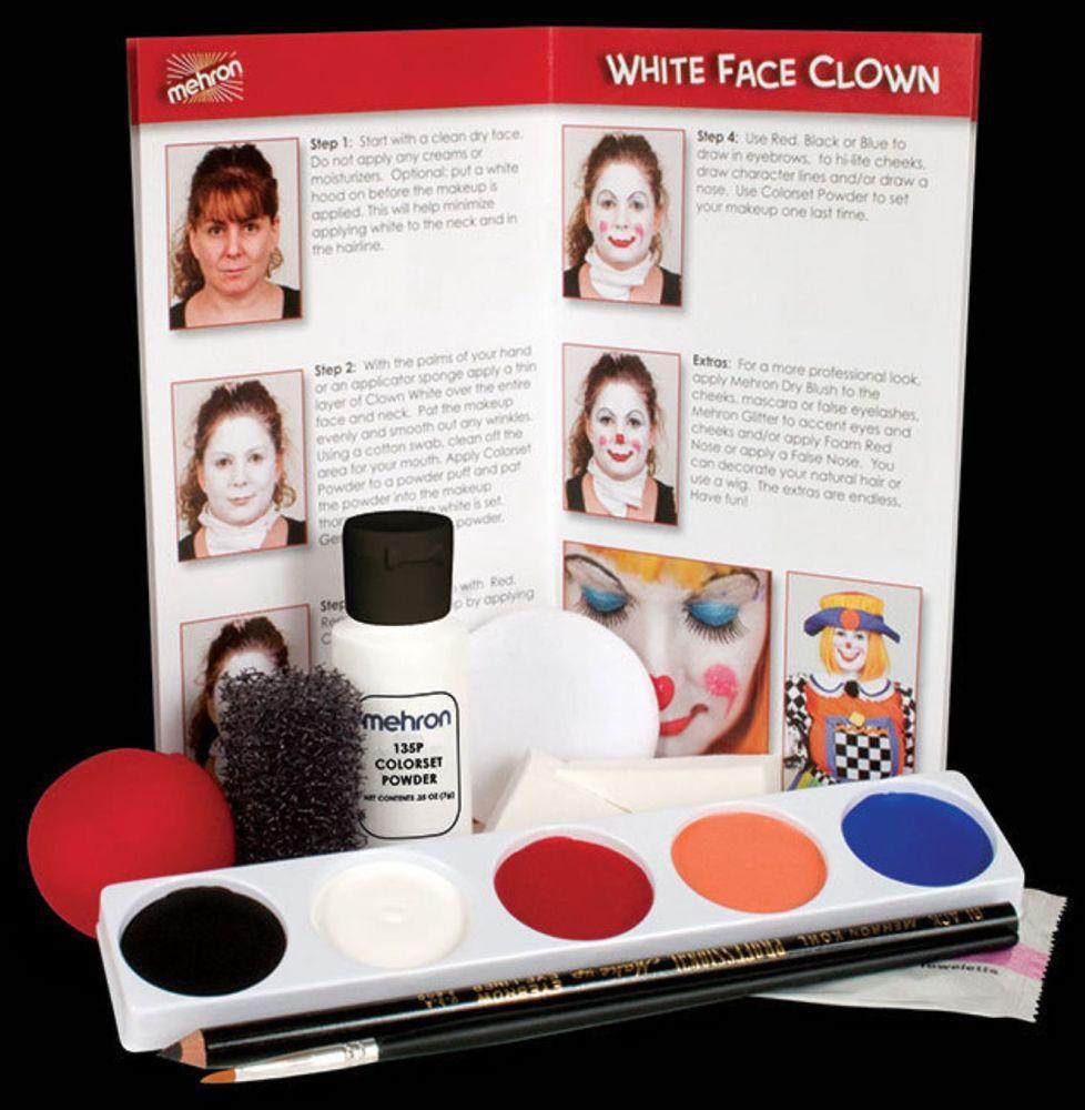Mehron Complete Clown Student Makeup Kit Set Professional
