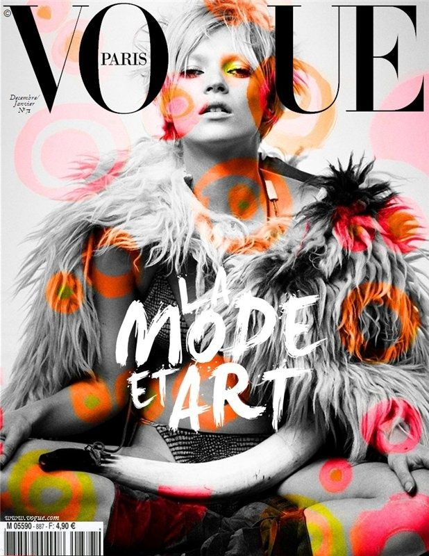 Vogue Paris Combinatie Zwart Wit Kleur Fashion Magazine