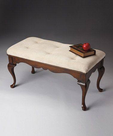 Loving this Cream & Cherry Queen-Anne Style Bench on #zulily ...
