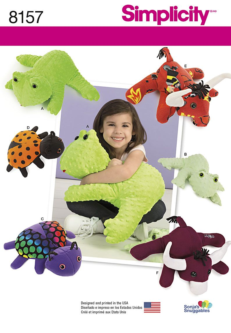 Stuffed Animal Patterns Simplicity New Design