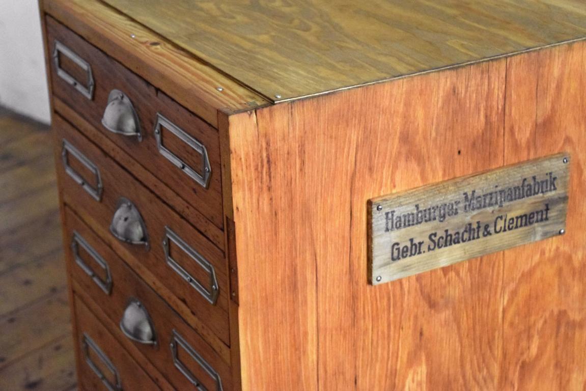 Schubladenschrank Antik Werkstattschrank Vintage Fabrik ...