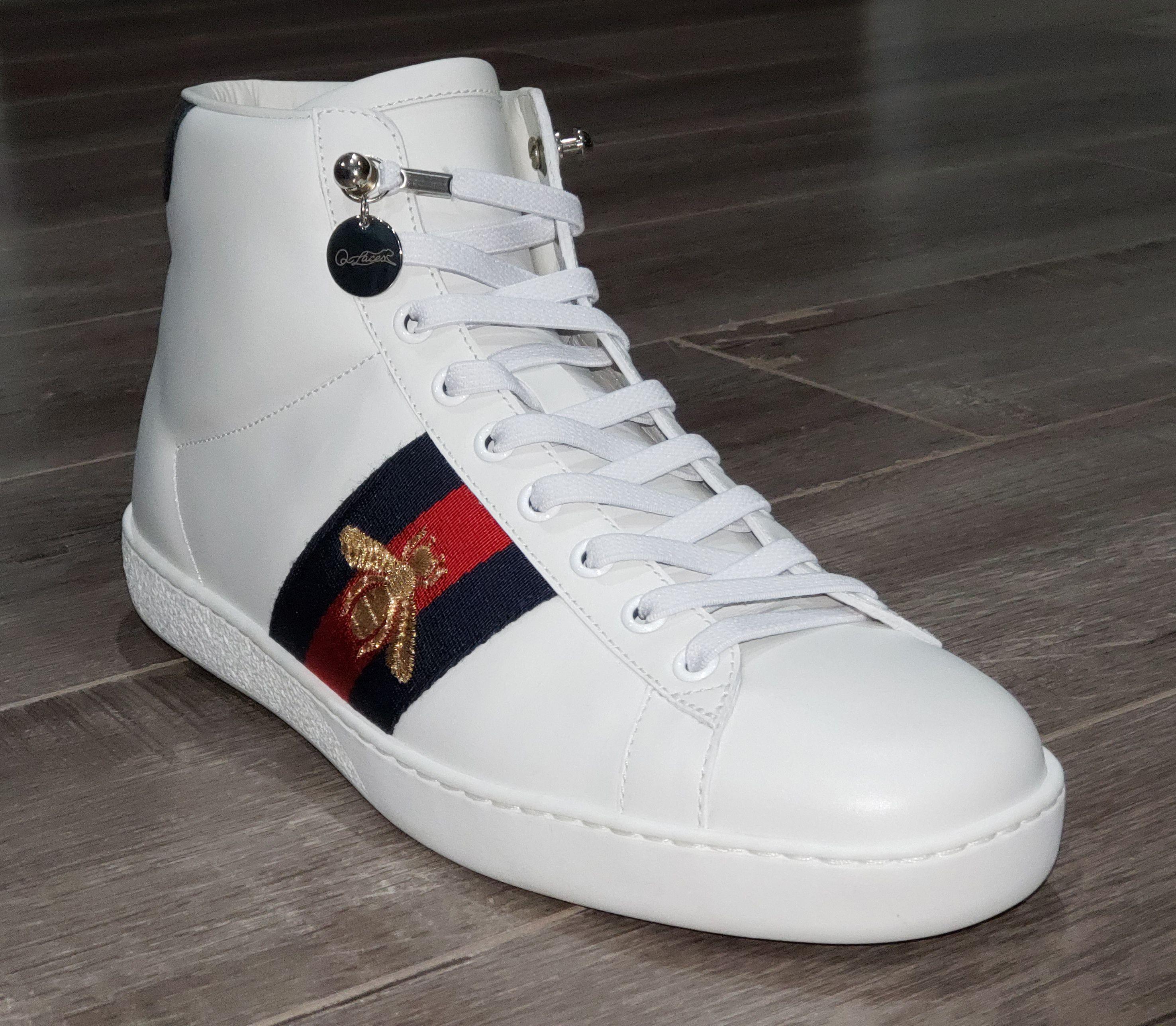 875a19e9e No Tie Shoelaces on Gucci High Top Sneaker for Men | No Tie ...
