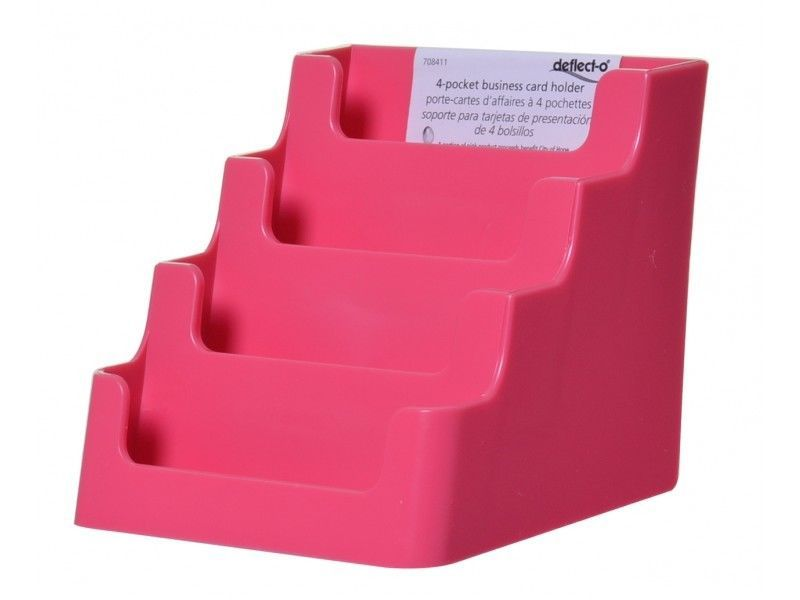 Pink 4 Tier Gift Card Display Stand Business Card Holder Counter top ...
