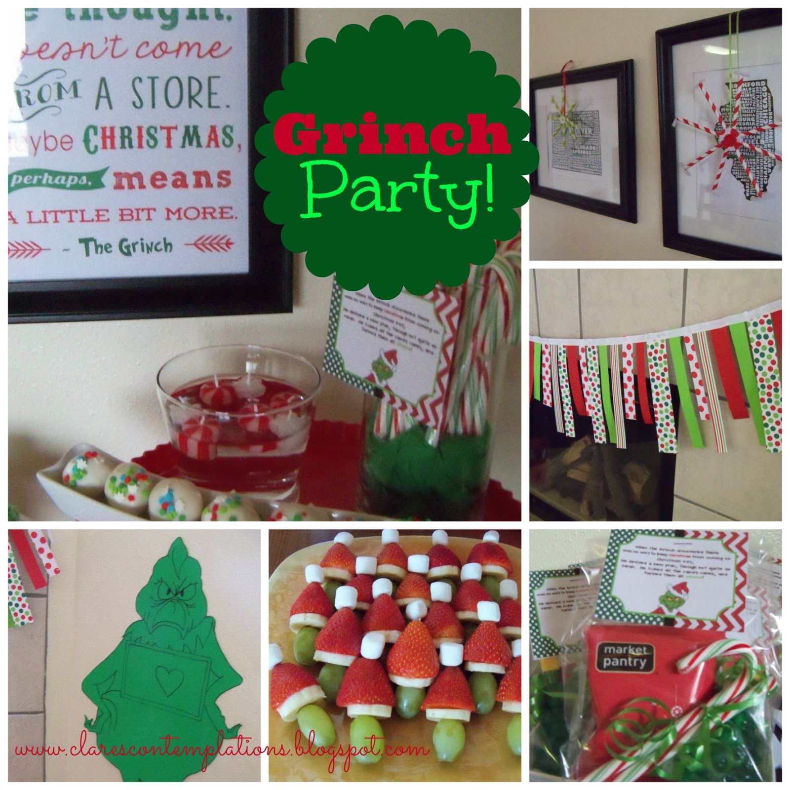 Christmas Party Ideas For Friends Part - 15: Great Grinch Party-lots Of Ideas For A Low-key, But Really Fun Kidsu0027 Christmas  Party! Nothing Complicated Or Expensive, But Your Kids And Their Friends  Will ...