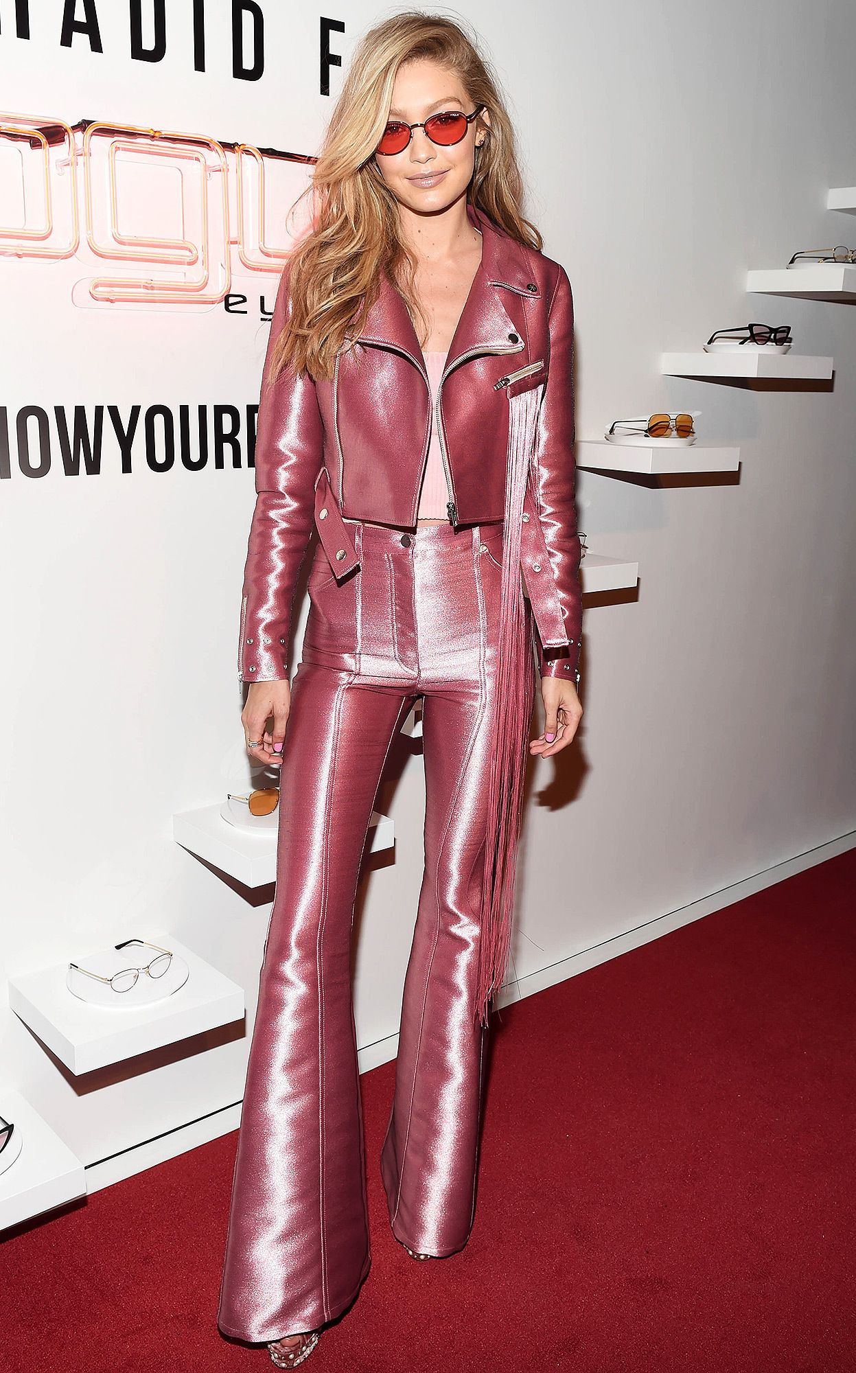 fa9dd5521b All the Scoop on Gigi Hadid s  Rock-and-Roll Barbie  Suit Straight ...