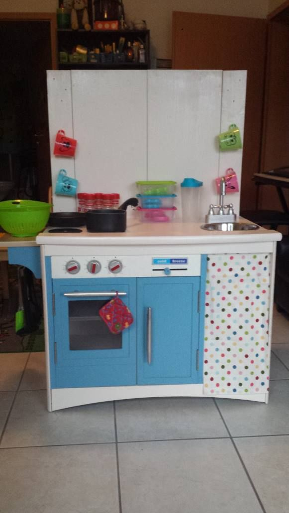 kids kitchen that i made out of an old tv stand
