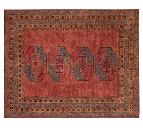 Pottery Barn Arlo Persian Red Rug 8x10 100 Authentic Pb