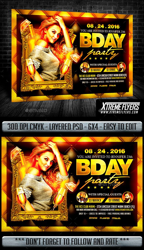 Birthday Flyer Flyer Template Template And Party Flyer