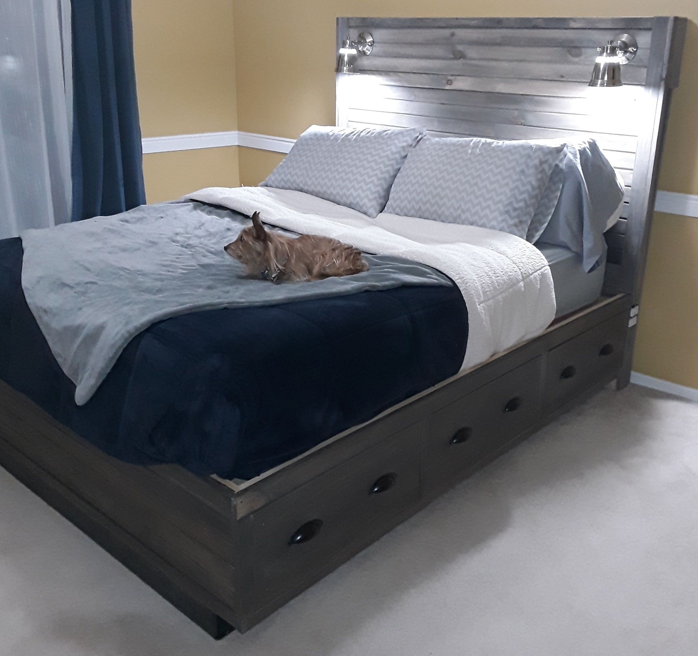 Best Ana White Queen Size Storage Bed With Headboard Storage 640 x 480