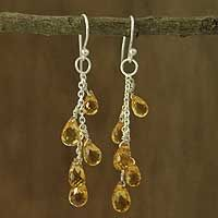Citrine Dangle Earrings Sunlit Waterfall From Novica They Help S Succeed Worldwide