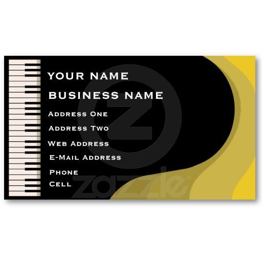 Grand Piano Music Business Card Zazzle Musician