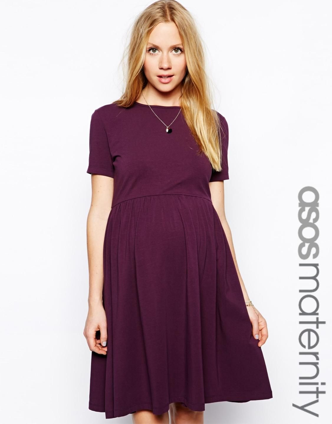 973d7cd4f37a ASOS Maternity Skater Dress With Slash Neck And Short Sleeves  http://picvpic.