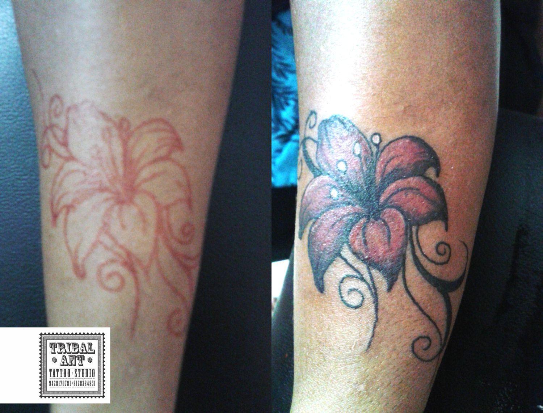 #lily flower #lily flower tattoo #flower #free hand job