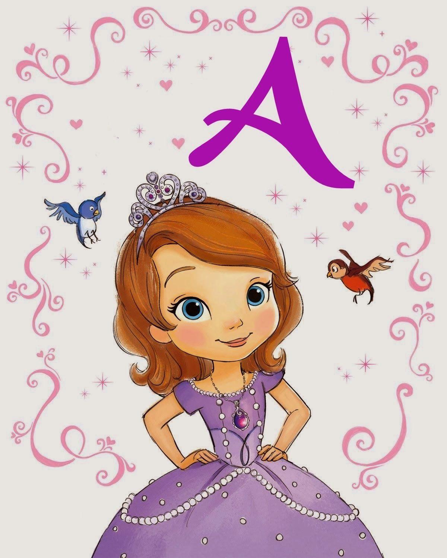 Alfabeto da princesa Sofia para imprimir!   Sofia party, Princess ...