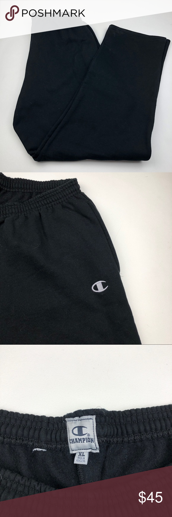 62b1b13a584 Men s Champion Big C Chainstitch Sweatpants Black Champion Big C  Chainstitch Sweatpants Black Mens X-Large New without tags For sale is a  Pair of Champion ...
