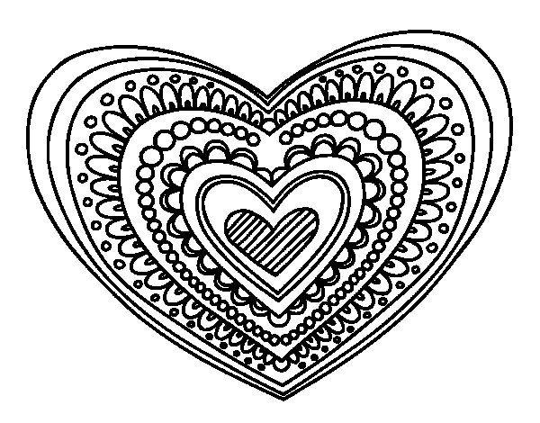 Heart Mandala Coloring Page Coloringcrew Com Mandala Coloring