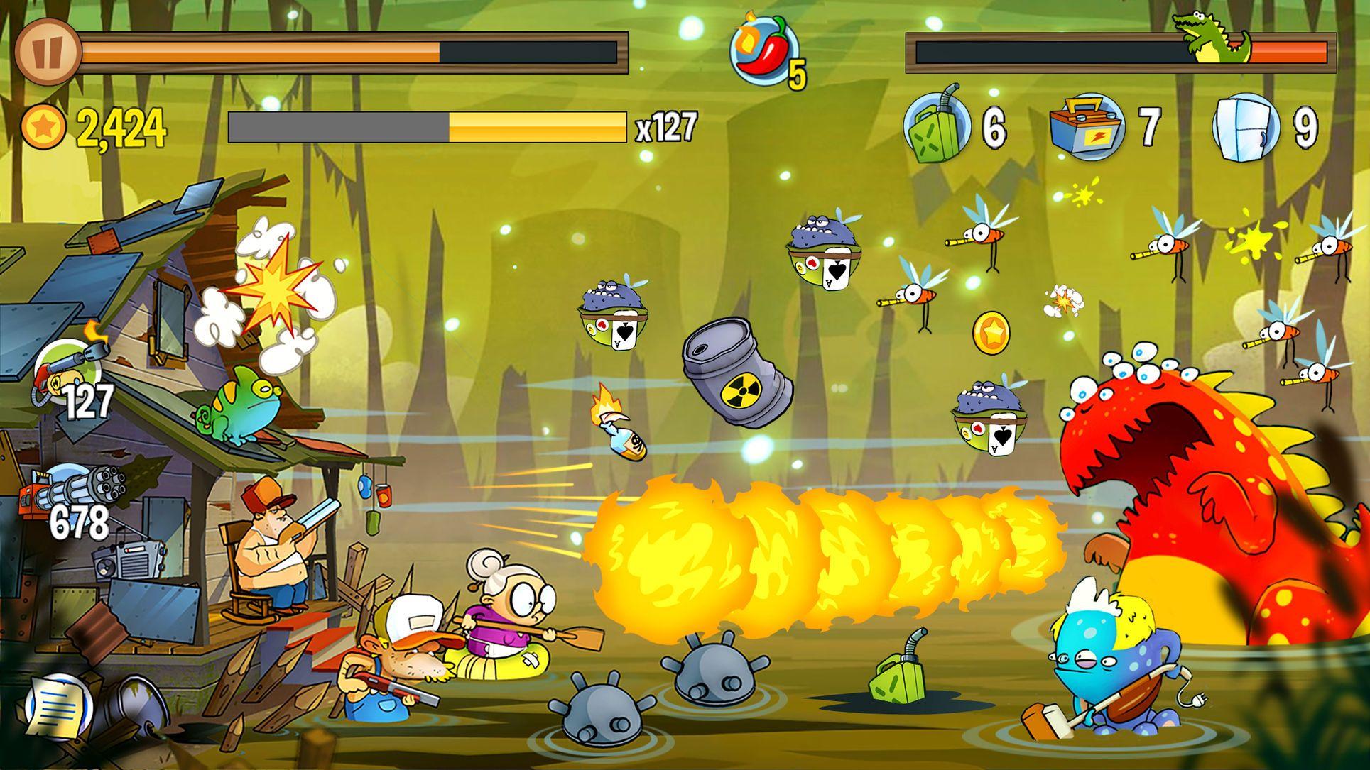 Swamp Attack Action Arcade Apps Ios Offline Games Game App