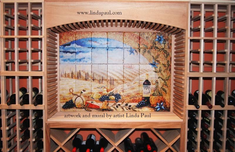 surprising Tuscan Tile Murals Part - 13: tuscan murals | Tile Murals of Tuscany - Tuscan Kitchen Backsplash Tile  Mural