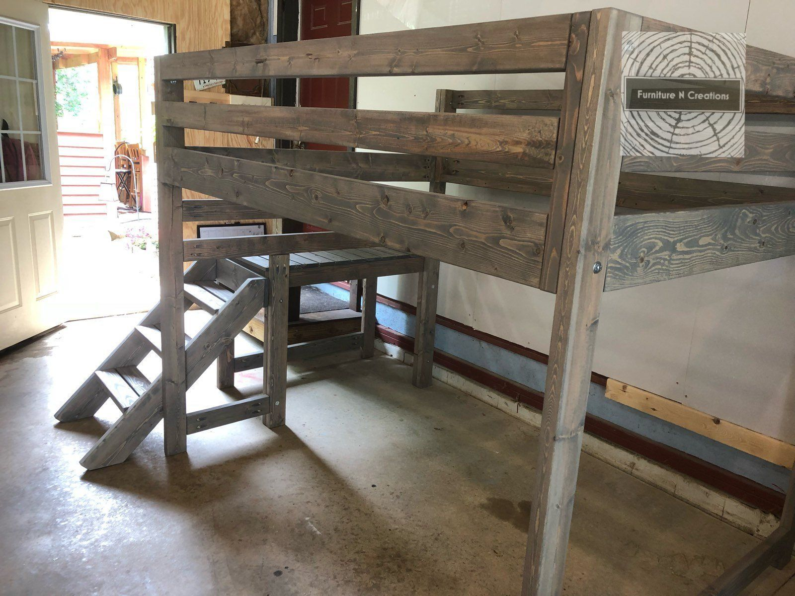 Full Size Loft Bed With Stairs Payment Plan 4 Payments