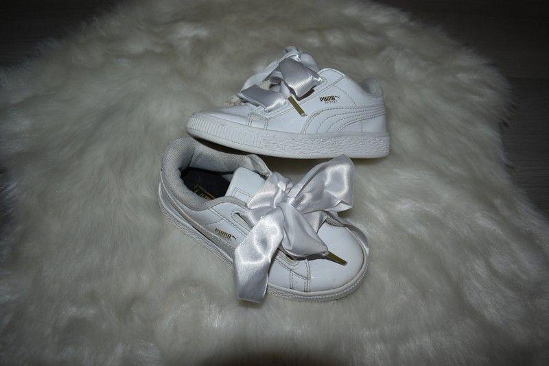 Puma Heart basket blanche 28 lacet en satin soit 4 5 ans