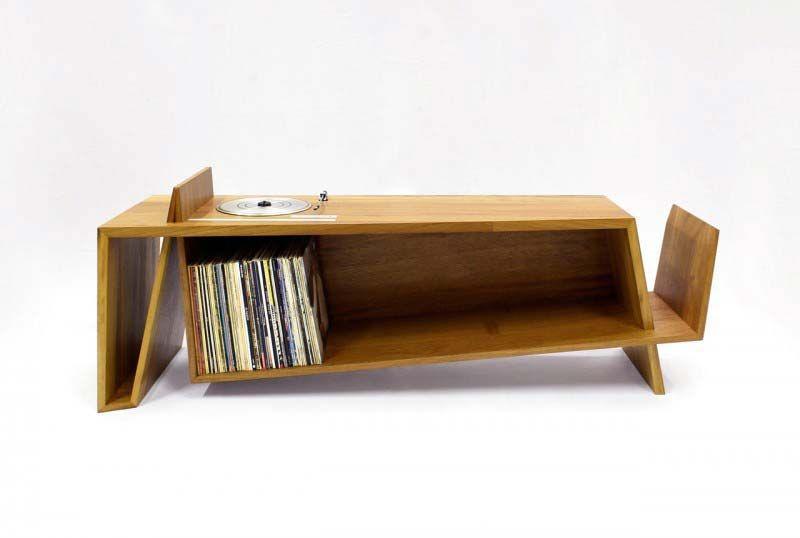 44 meubles pour ranger des vinyles oak furniture. Black Bedroom Furniture Sets. Home Design Ideas