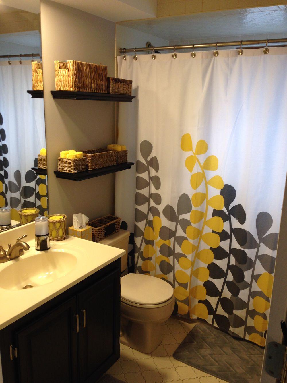 Bathroom Makeover Bathroom Decor Apartment Yellow Bathroom