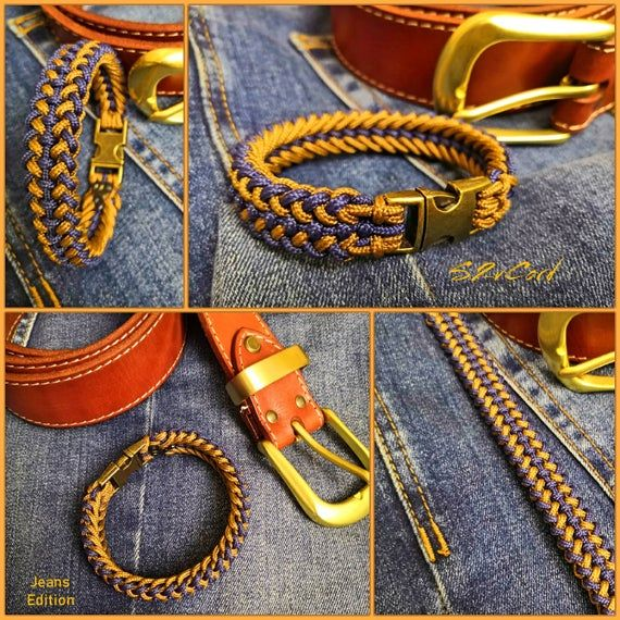 ✔ Jeans Fashion accessory. ➤ Looks very nice when you wear something from the denim style. Looks stylish and fashionable. Slim and elegant. ➤ Metal clasp nice weight bracelet. Bracelet width - 16мм. Thickness - 9мм. ➤ Make sure you correctly measure the size of the bracelet as in the photo. ➤