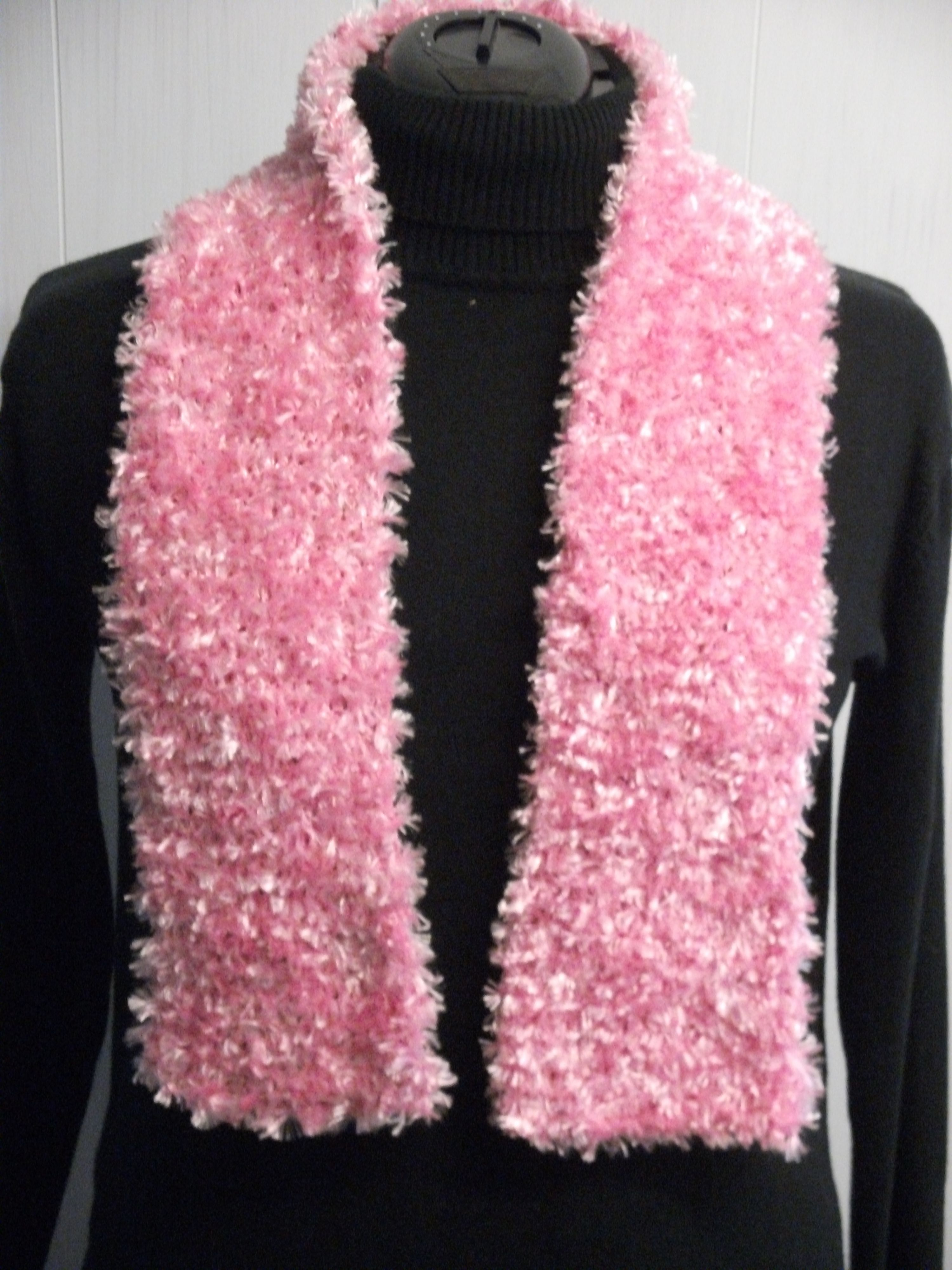 One of two similar scarves for Shoeboxes made using a donated ...