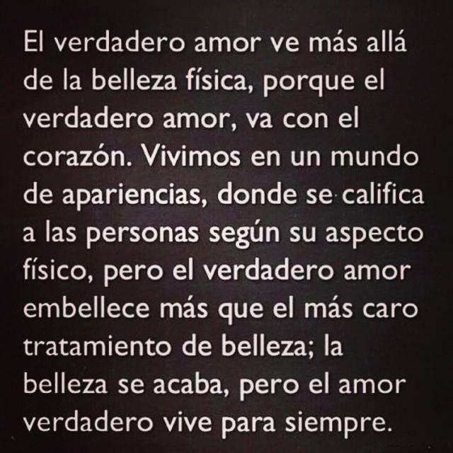 El Verdadero Amor Ve Mas Alla Frases De Belleza Dichos De Amor