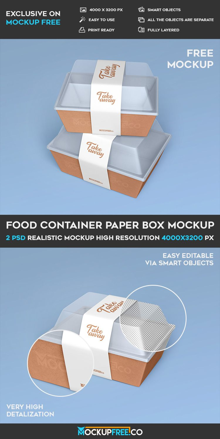 Download Food Container Paper Box 2 Free Psd Mockups Download Mockup Free Psd Mockup Psd Paper Box