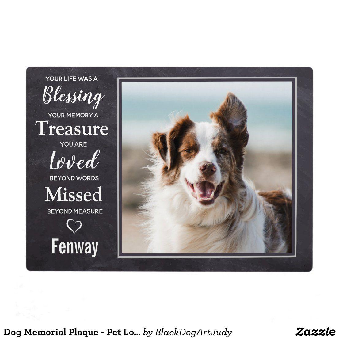 Dog memorial plaque pet loss gift pet sympathy