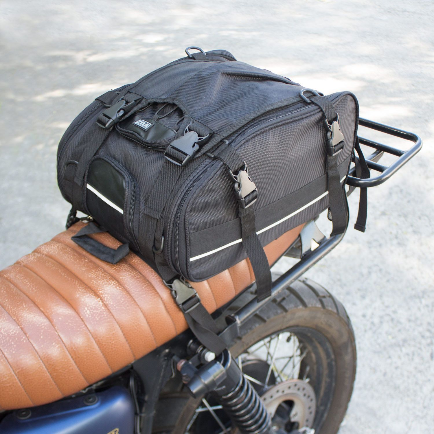 35fa7e72bd17 Expand Your Mind The VUZ Moto Expandable Tail Bag was built with utility in  mind to be a versatile and useful travel companion in any condition.