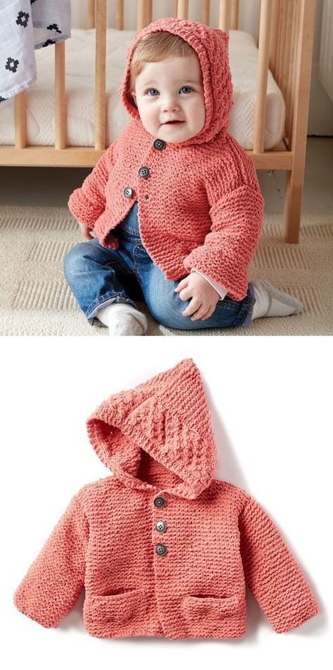 Free Knitting Pattern For Baby Cardigans Babykids Pinterest