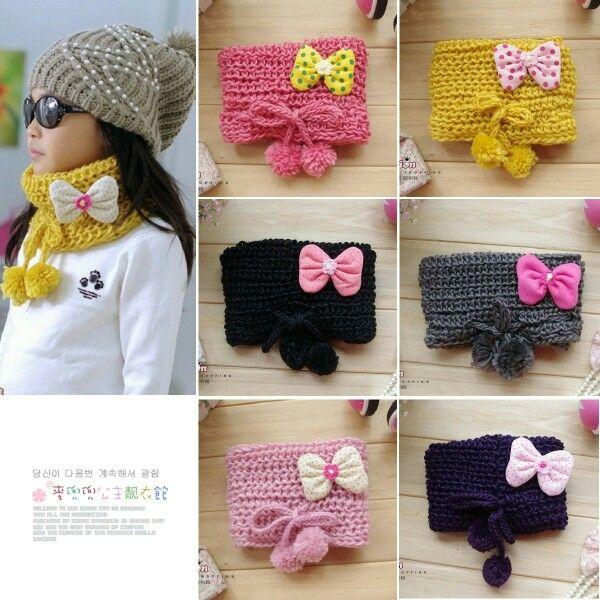 Moda estilos frescos gran variedad de estilos Bufandas niña   Ideas para manualidades   Bufandas tejidas ...