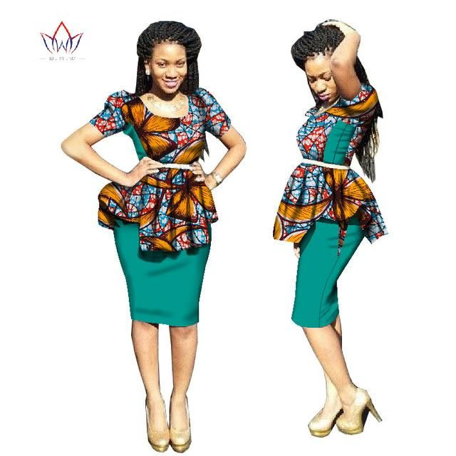 caff376a73d 2 Pieces Women traditional african dress Plus Size Dashiki o-neck Skirt Set  Clothing 5xl WY2683