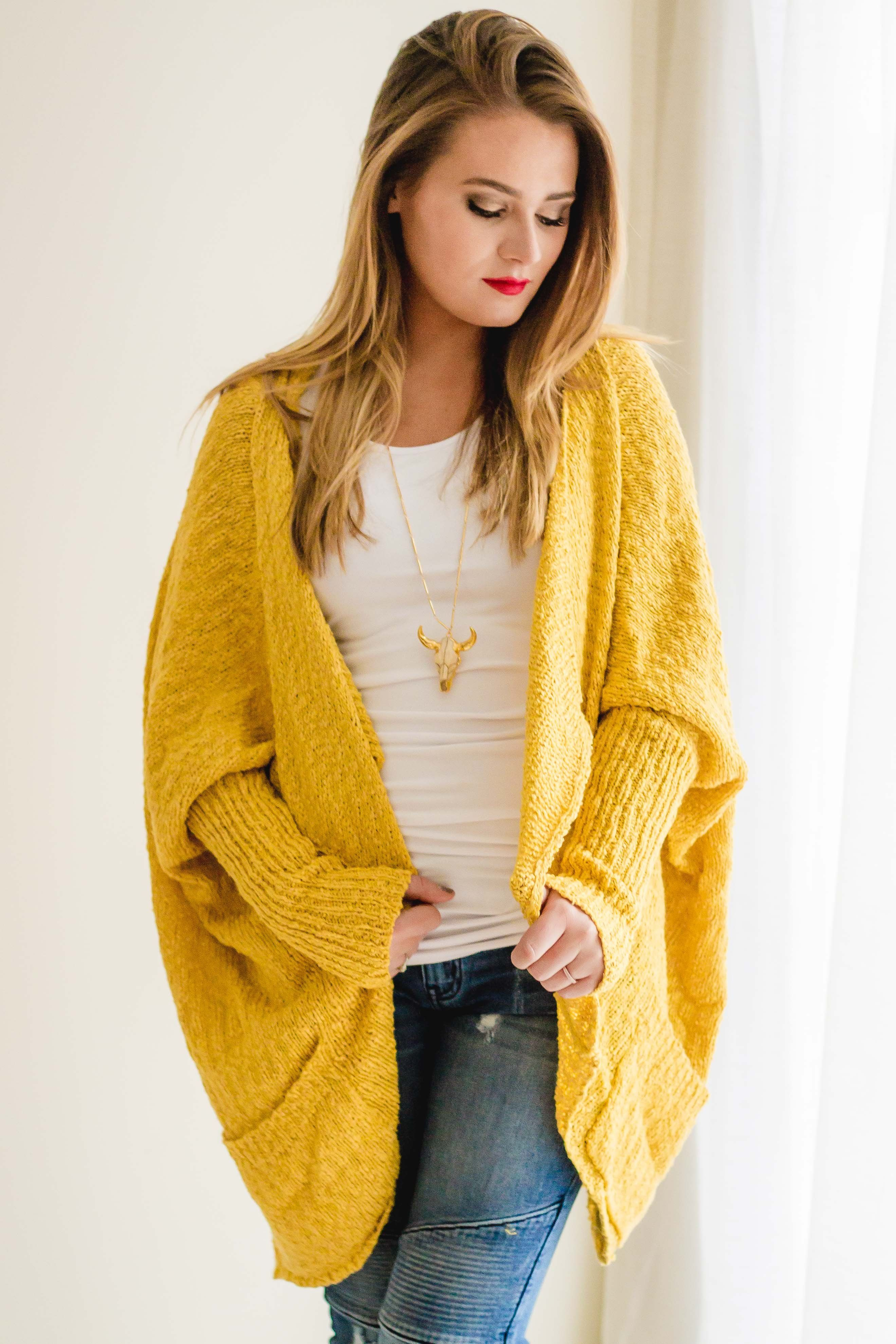 Sunny Cable Knit Cardigan | Mustard | Cable knit cardigan, Cable ...