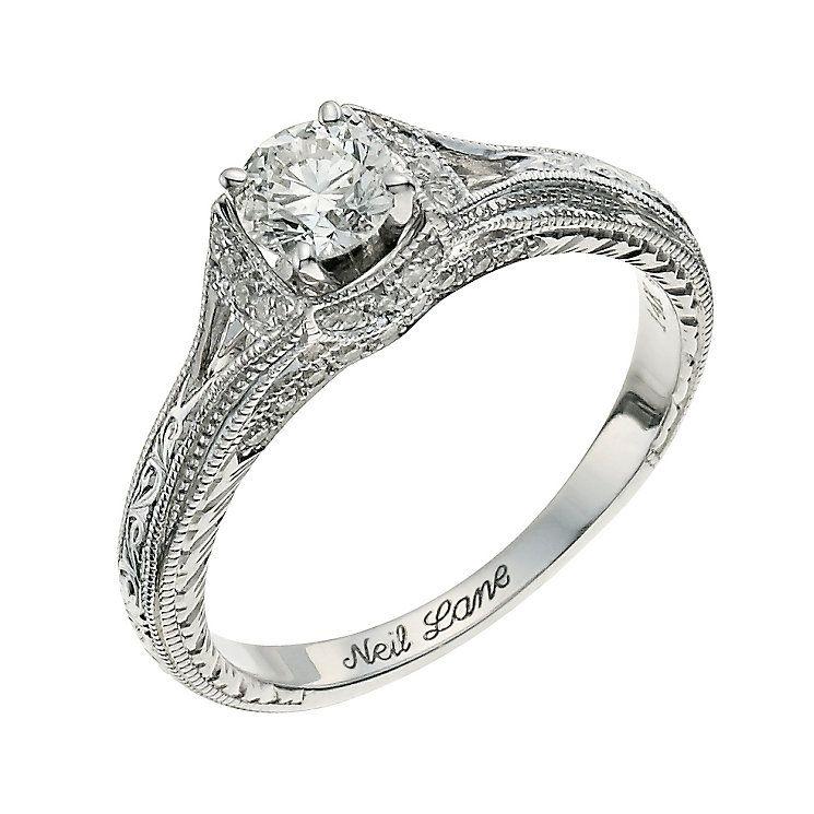 Neil Lane 14ct white gold 0.58ct round diamond ring