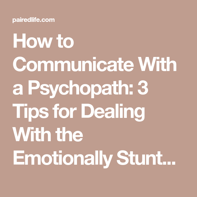 How to communicate with a sociopath