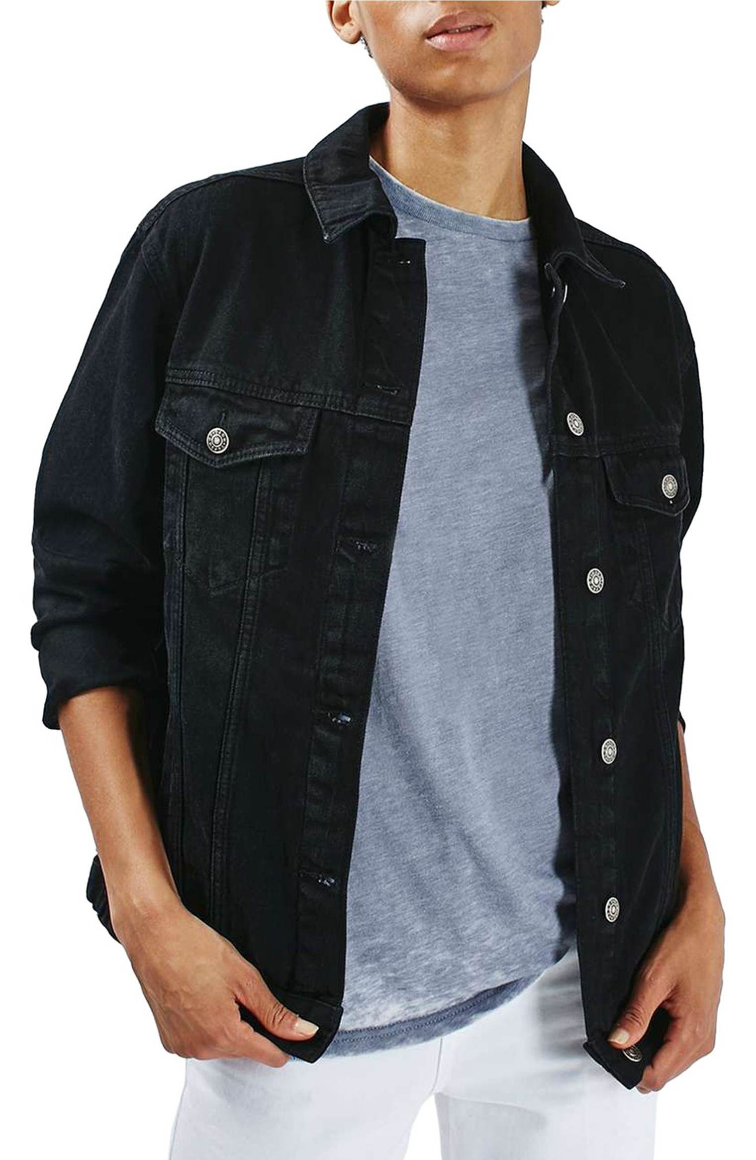 Pin On Black Jean Jacket [ 2332 x 1520 Pixel ]