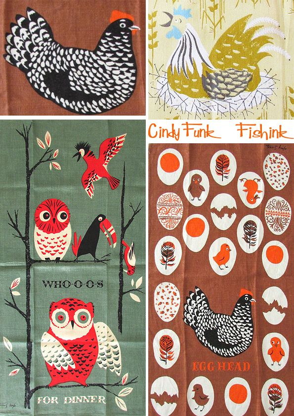 Mid Century Tea Towels on Fishink blog