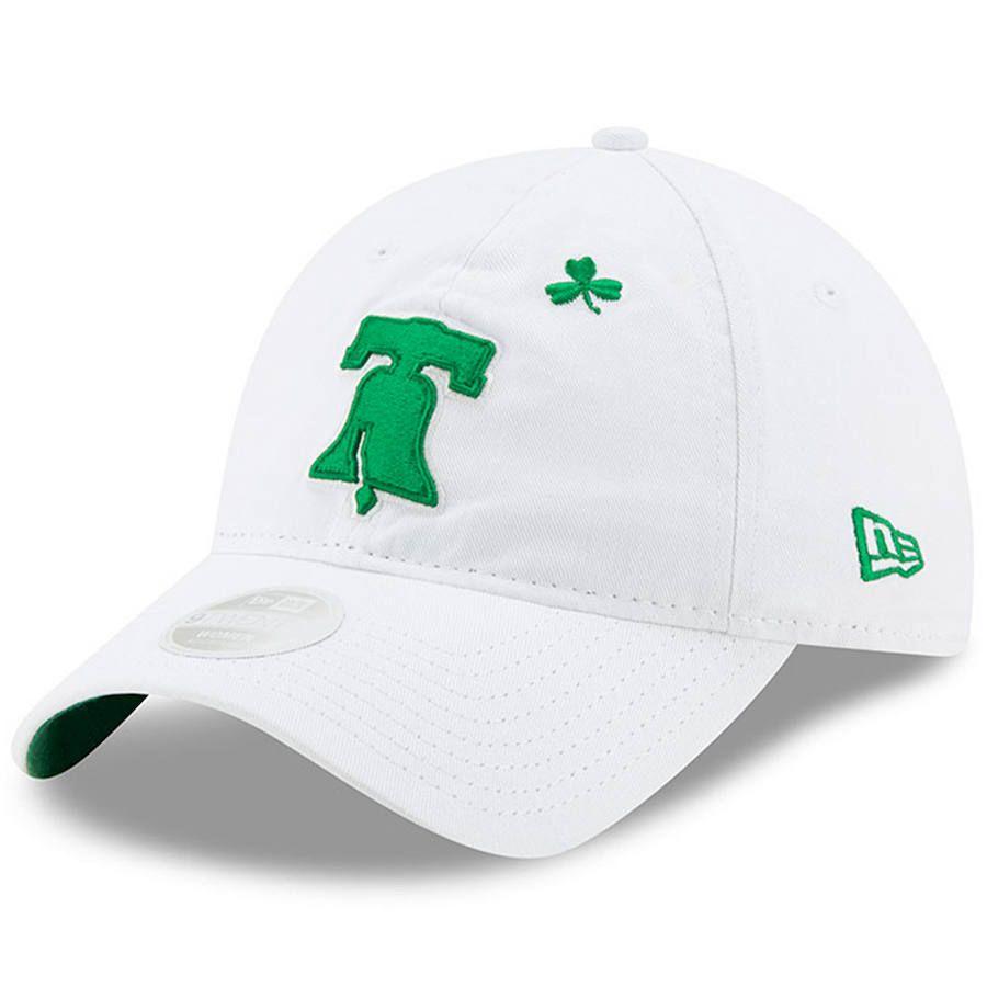 c2b8c520cbb14c Women's Philadelphia Phillies New Era White 2019 St. Patrick's Day 9TWENTY  Adjustable Hat, Your Price: $23.99