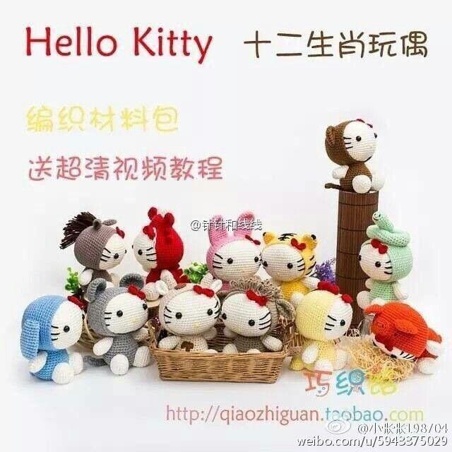 Hello Kitty 十二生肖 | amigurumis | Pinterest | Patrones amigurumi ...
