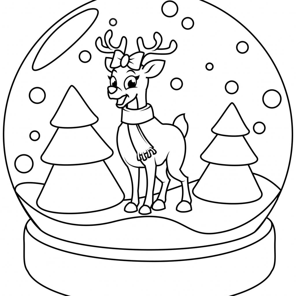 Realistic Reindeer Coloring Pages Printables