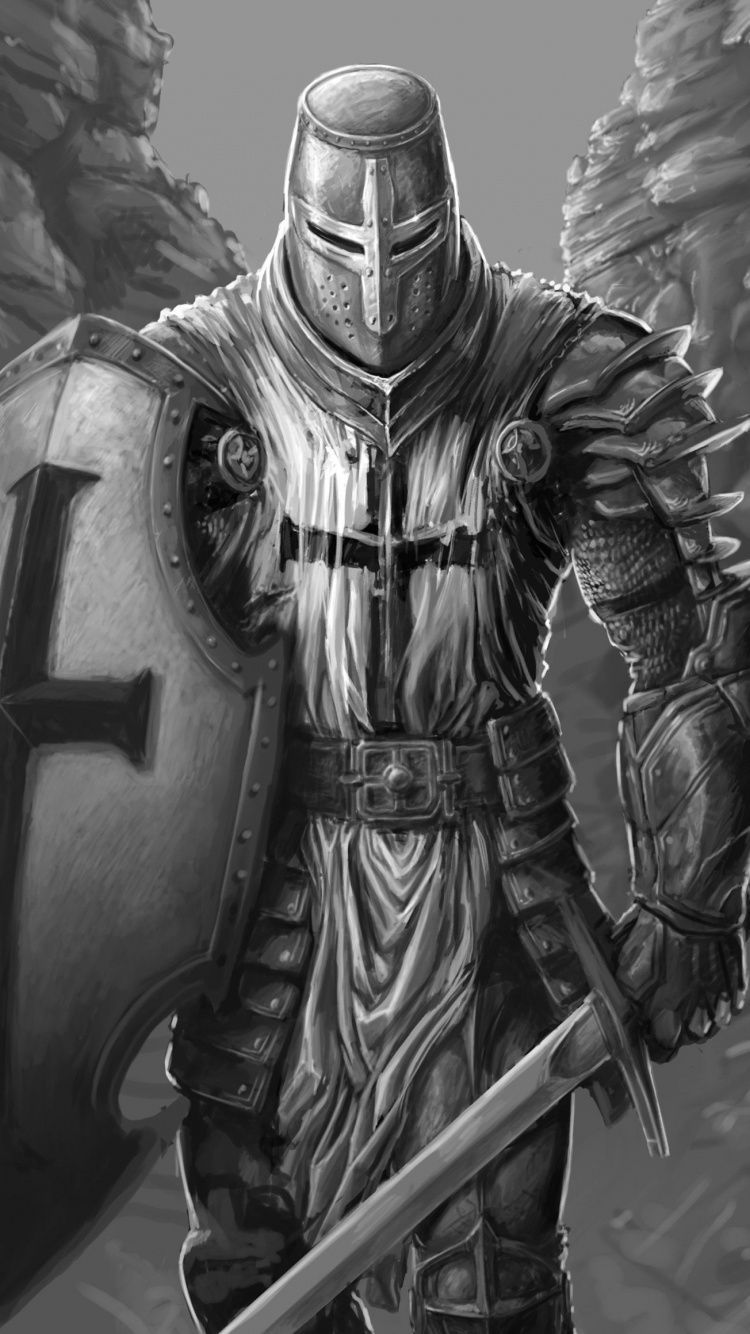 Download 750x1334 wallpaper The Knight, fantasy, warrior