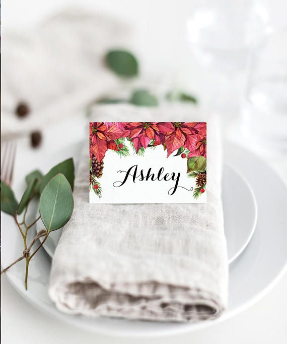 Christmas Decorations Decor Diy Dinner Place Cards