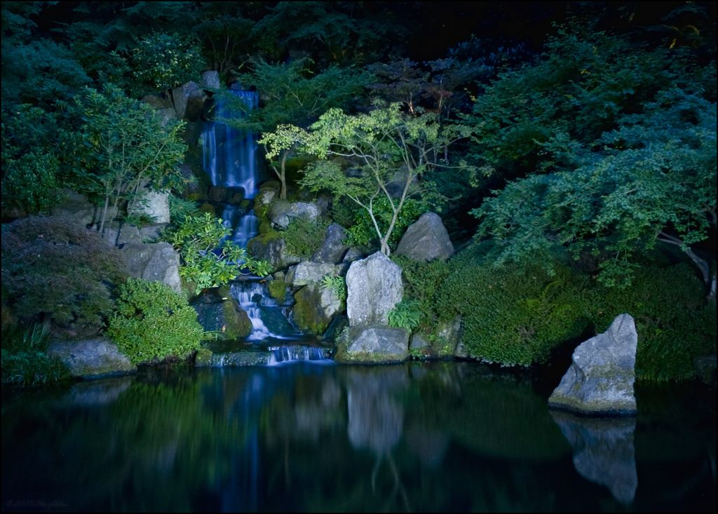 Japanese Garden At Night japanese garden at night | gardens