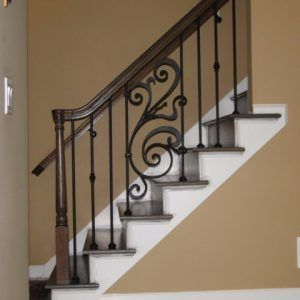 Best Rebecca On Angle Iron Stair Balusters Stair Railing 400 x 300