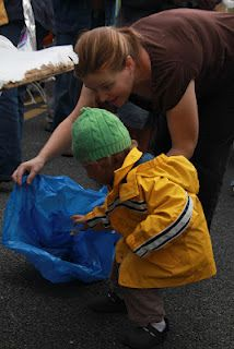 Cleaning our earth is a great way to reinforce Earth Day.
